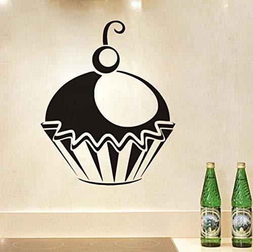 Pvc Sieht Wunderbare Cupcake Wandaufkleber Wohnkultur Küche Und Lounge Aufkleber Diy Vinyl Wandtattoos Muster Poster 36x44 ()