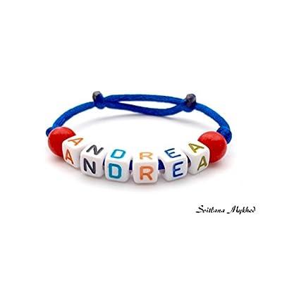 Bracelet ANDREA personnalisé avec prénom (réversible) homme, femme, enfant, bébé, nouveau,né.