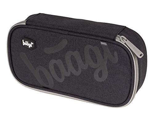 Federmäppchen für Junge - Schulmäppchen für Schreibwaren - Schulsachen Federtasche, Jungen Federmappe, Mäppchen für Schule (Logo Black)