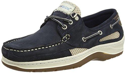 Quayside Sydney, Chaussures Bateau Mixte Adulte Bleu (Bleu marine)