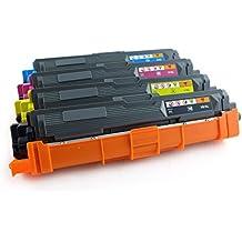 Green2Print Toner-Set 4, Kartuschen noir, cyan, magenta, jaune, 9100 Pages, remplace Brother TN-241BK, TN-245C, TN-245M, TN-245Y, Cartouche de toner pour Brother HL-3140-CW, HL-3170-CDW, HL-3150-CDW, DCP-9020-CDW, MFC-9140-CDN, MFC-9330-CDW, MFC-9340-CDW