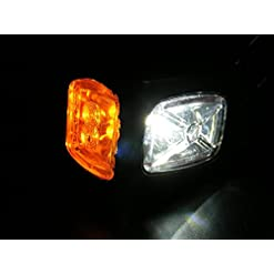 Set di 4 luci di posizione laterali – 12-24 V – per telaio di rimorchio, caravan, camper, camion – colori: arancione, bianco, rosso