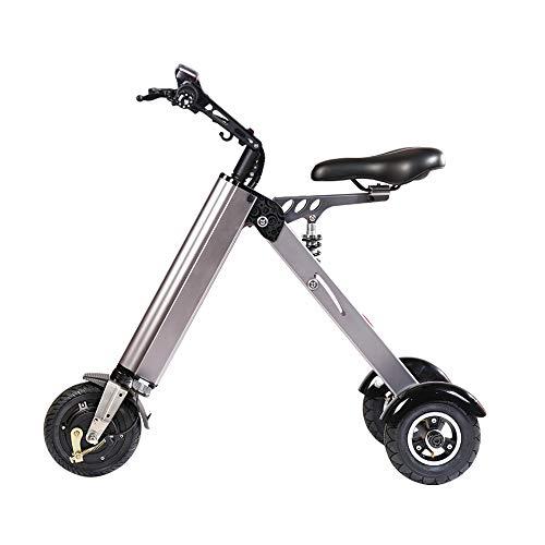 TopMate ES31 Elektroroller Mini Faltbares Dreirad Gewicht 14KG mit 3 Gängen Geschwindigkeitsbegrenzung 6-12-20KM / H und 3 Stoßdämpfern | Besonders geeignet für Personen über 50 auf Einer Reise