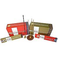 Räucherstäbchen Set 180g Golden Nag Chandan und 180g Golden Nag Champa mit zwei Räucherstäbchenhaltern preisvergleich bei billige-tabletten.eu