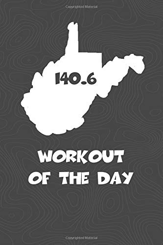 Workout of the Day: West Virginia Workout of the Day Log for tracking and monitoring your training and progress towards your fitness goals. A great ... bikers  will love this way to track goals! por KwG Creates