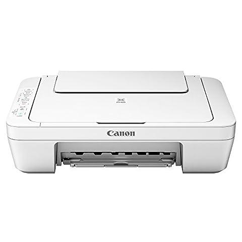 Canon MG3051 Imprimante Multifonction Couleur 20 ppm blanche