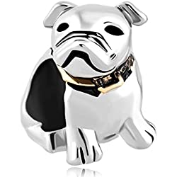 Lucky Charms Cute Puppy Pet Pug Dog Animal Charm Bead Fits Pandora Charm Bracelet