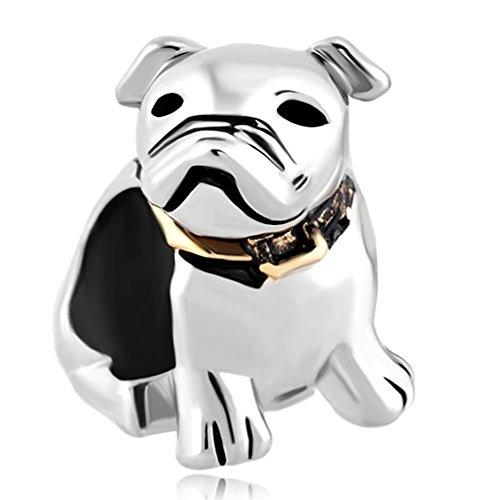Pandora Charms Similar Style - Charm / Ciondolo, cucciolo / cagnolino / carlino, adatto a braccialetti con charm Pandora