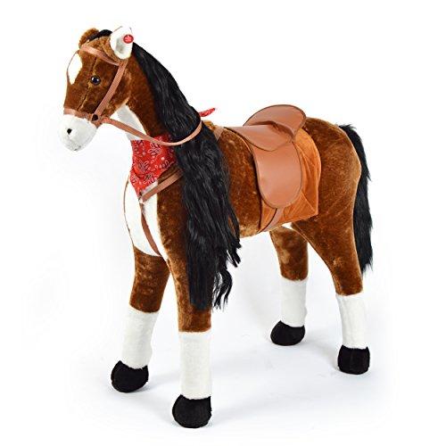 Pink Papaya Plüschpferd XXL 105cm - Anna, das riesige Pferd zum Reiten, EIN tolles Stehpferd XXL, bis 100kg, Spielpferd Pferd zum Draufsitzen- EIN Kindertraum für Mädchen!