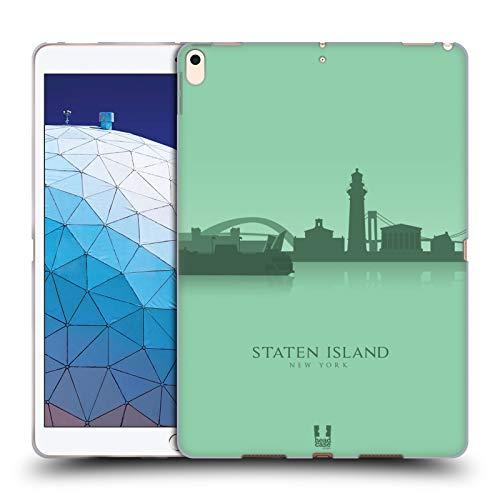Head Case Designs Staten Island Landmarken Silhouettes 2 - Us Soft Gel Huelle kompatibel mit iPad Air (2019)