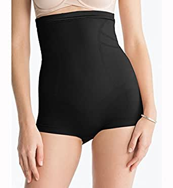 Gaine amincissante brillante taille haute Spanx - Slimmer & Shine High Waisted Body Tunic (Large, Noir)