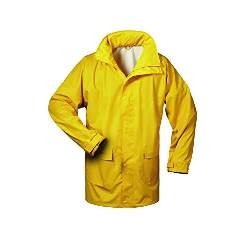 Norway PU Regen-Jacke mit Kapuze - gelb - Größe: M