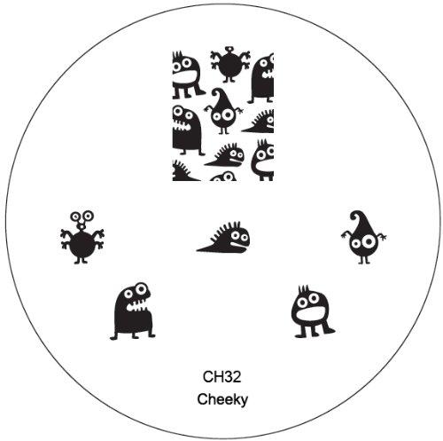 CH32 Plaque Nail Art Pochoirs Nouveaux Designs Stamping Manucure Nailart par Cheeky®