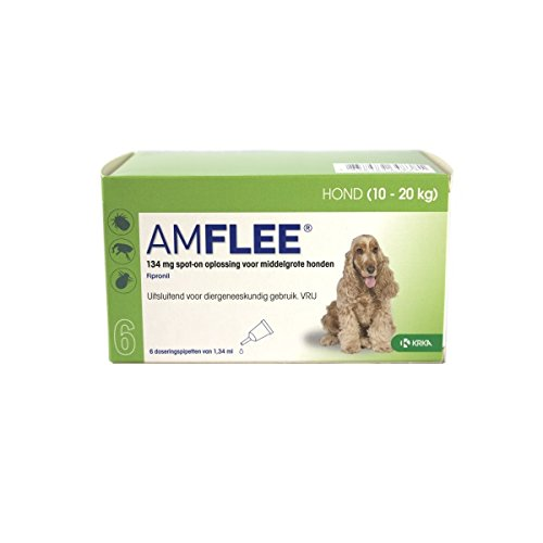 Amflee Spot-on Hund - 134 mg - 6 Pipetten MHB 03-2018