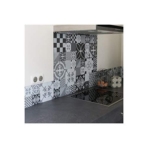 99DECO Crédence Ciment Style Gris