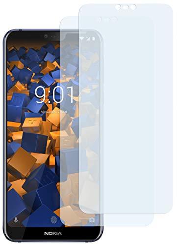 mumbi Schutzfolie kompatibel mit Nokia 7.1 2018 Folie klar, Bildschirmschutzfolie (2x)