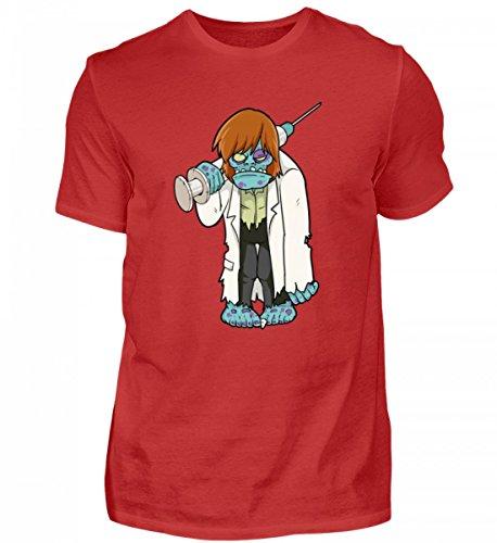 Hochwertiges Herren Shirt - Doktor Zombie - Untoter Arzt mit Grosser Spritze und Arztkittel - Horror Monster Halloween