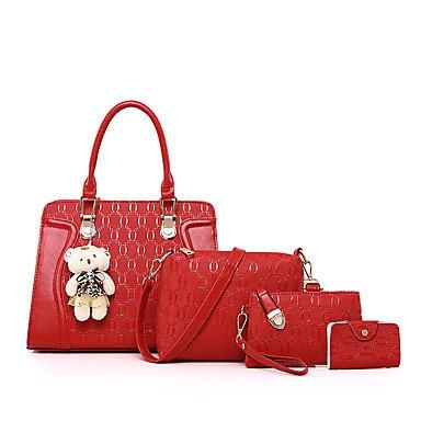 Le donne della moda classica borsa Crossbody,Nero Gold