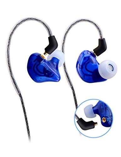 Sunorm In-Ear-Kopfhörer für Sport, mit Geräuschunterdrückung, knotenfreies und abnehmbares Kabel, geeignet für MP3-Player, iPhone und Android-Smartphones