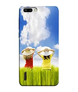 Fuson Designer Back Case Cover for Huawei Honor 6 Plus (Blue Sky Clouds Farmers Fun Childhood)