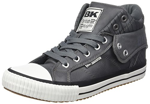 British Knights Roco, Baskets Hautes Homme, Noir, 45 EU Grau (Dk Grey)