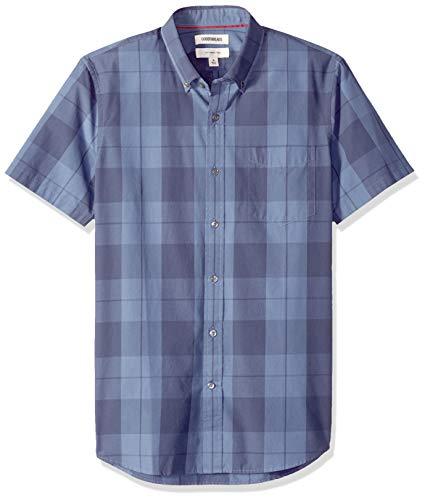 Oxford-hemd Mit Karomuster (Goodthreads Herren Slim-Fit Hemd, Blau (Indigo Large Plaid Lar), Gr. Small)