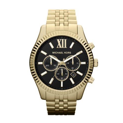Michael Kors Herren Chronograph Quarz Uhr mit Edelstahl Armband MK8286