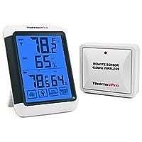 ThermoPro controlla la temperatura e l'umidità della vostra casa nel modo più comodo ed elegante! Termometro igrometrico digitale con formato Lettera Extra grande per una lettura facile e veloce, sarà in grado di conoscere in qualsiasi momento della ...