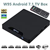 W95 Android 7.1 TV Box mit LED (Amlogic S905W Quad Core, 2GB RAM 16GB ROM, 4K HDMI, 2.4G WiFi, RJ45) Smart TV Box