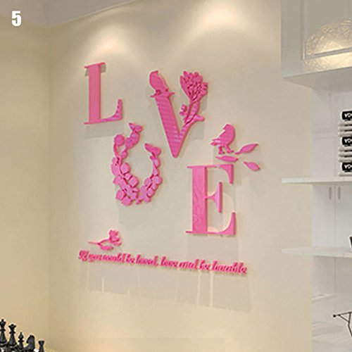 Descargar PDF URNINAU 3D DIY Mirror Wall Stickers Love Flower Art ...