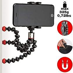 JOBY ONE GP Support Magnétique et Universel, Trépied GorillaPod Flexible avec Télécommande Bluetooth pour Smartphones et iPhone, JB01494-BWW