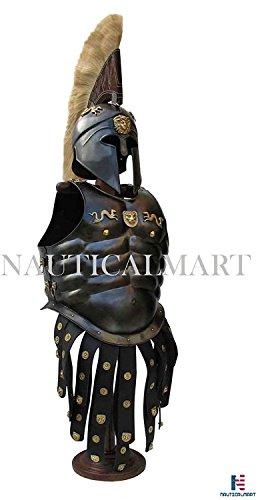 Leder, Royal-cuirass-Helm, korinthisches Design, Halloween-Kostüm (Royal Guard Kind Kostüme)