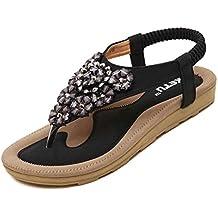 e7eaf07d7247 Elecenty Sandalen Damen,Schuhe Shoes Schuh Sommerschuhe Bequeme 3D Blume  Sandaletten Frauen Sommer Zehentrenner Offene
