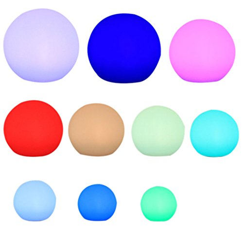 ZXK 20CM Outdoor Indoor LED Ricaricabile Impermeabile Sfera Mood Light Lampada da Tavolo con RGB Colorful Cambiare Telecomando