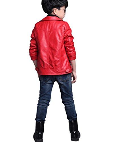YoungSoul Giacche ecopelle bambino - Manica lunga - Giubbotti finta pelle  moto autunnali invernali - Cappotti per Bambini e ragazz c02d9c983de