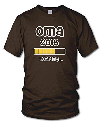 shirtloge - OMA 2018 LOADING... - KULT - Fun T-Shirt - in verschiedenen Farben - Größe S - XXL Braun