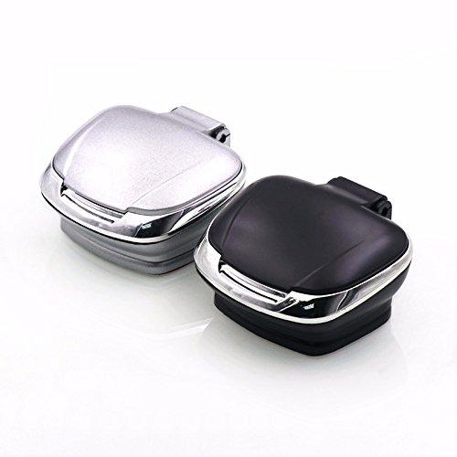 Tolyneil auto posacenere, easy clean Up creative Cigarette Ash Holder Cup con luci a LED e batteria a bottone