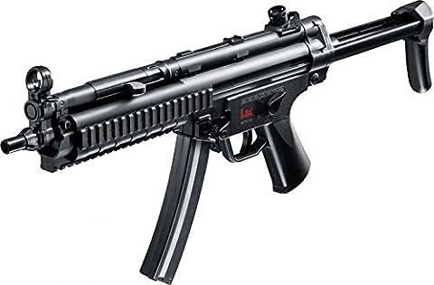 SET: Heckler & Koch MP5 A5 RAS EBB H&K Metall Gear Box AEG ELEKTRISCH Gewehr + G8DS® PREMIUM BIO BB Softairkugeln weiß 6mm 0,20g 5000 BBs