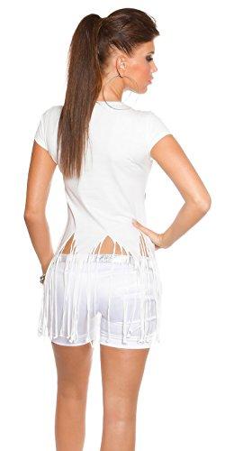 Koucla Damen Bluse Weiß
