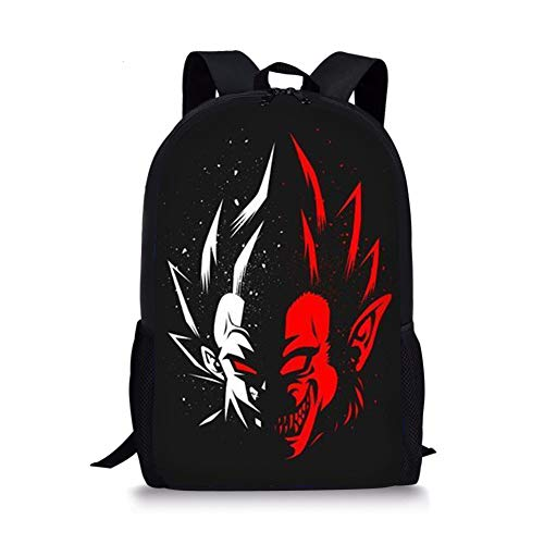 POLERO Anime Dragon Ball Z Rucksack, für Schule Student Bookbag Reisebüros Goku Rucksack König Kai Rucksack Dragon 4 Sterne Rucksack, Ma Dämon Rucksack