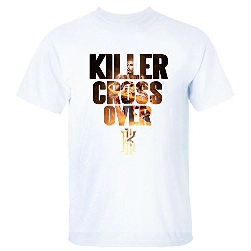 Yrewer Men's Killer Cross Over Kyrie Irving Logo Cleveland Cavaliers #2 T Shirt
