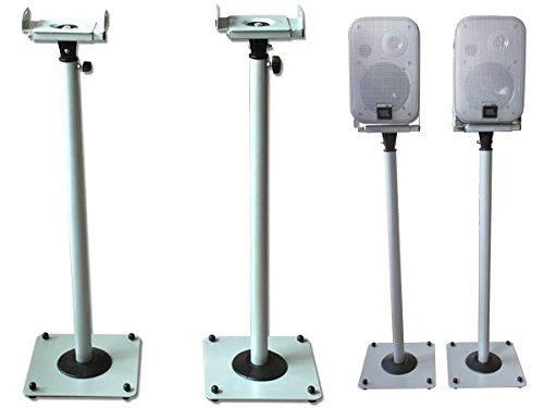 2 Stück Boxenständer aus Metall Lautsprecherständer Box Lautsprecher höhenverstellbar mit...