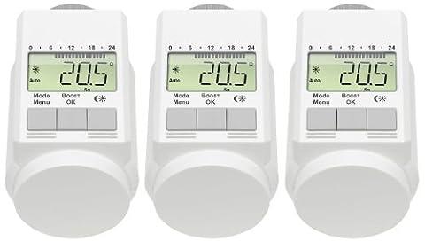 Programmierbarer Heizkörper-Thermostat (Energiesparregler) 3er-Set