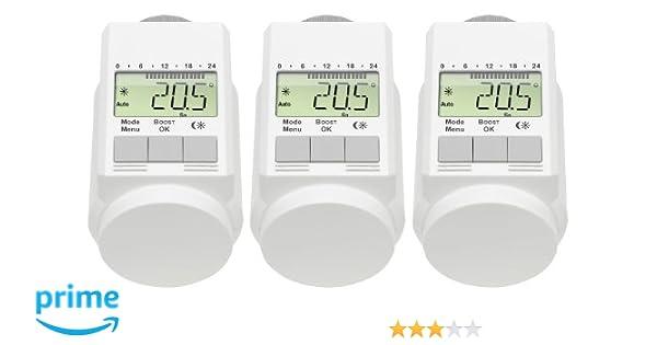 /3x/Thermostats programmables - Blanc AGT/ contr/ôle d/économie d/énergie