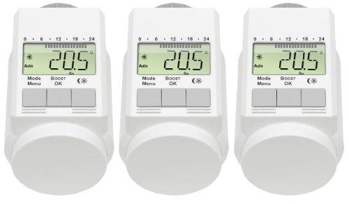 AGT-Set aus 3programmierbaren Thermostatventilen (zur Energieeinsparung), Farbe: weiß -