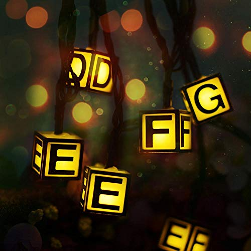 Nachtlicht 2019 30Led 6 Mt Brief Abc Solar Fairy Led Lichterkette Rgb Schlafzimmer Home Holiday Festival Party Decor Vorhang Weihnachten Geburtstagsgeschenke @ Warn_White -