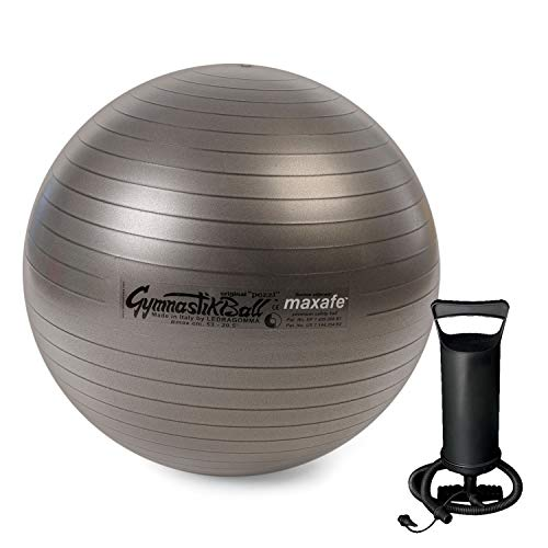 Pezzi Original Gymnastik Ball Maxafe 65cm +Pumpe PLUS Sitz Therapie anthrazit -