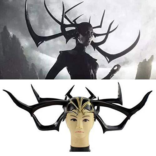 JOKOP Halloween Masken Göttin des Todes Maske Scary Cosplay Kostüm Zubehör für Karneval Erwachsene Party Fasching Prop