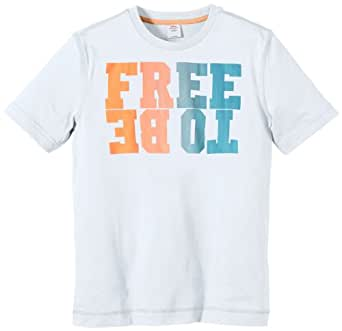 s.Oliver Jungen T-Shirt 61.404.32.7147, Einfarbig, Gr. 152 (Herstellergröße: M), Weiß