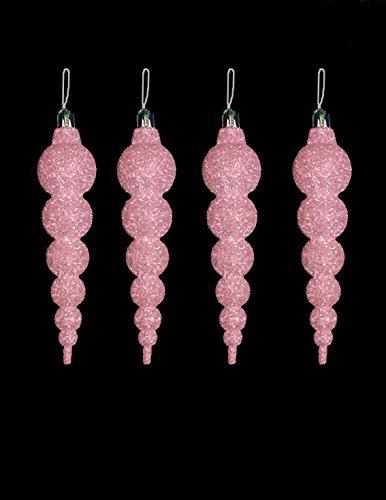 4-x-16cm-erroten-rosa-baby-rosa-glitter-eiszapfen-weihnachtsbaumschmuck